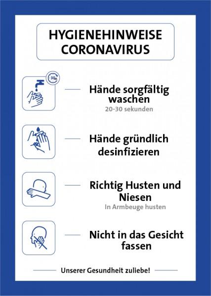 Aufkleber Hygienehinweis   Standard   DIN A4
